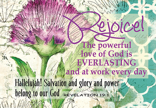 Pass It On Cards: Rejoice in His Powerful Love  (8 pack)
